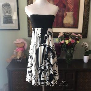 Beautiful black white dress